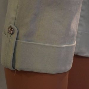 NYDJ Jeans - NYDJ Mint Crop Jewel Cuff Detail Sz 8
